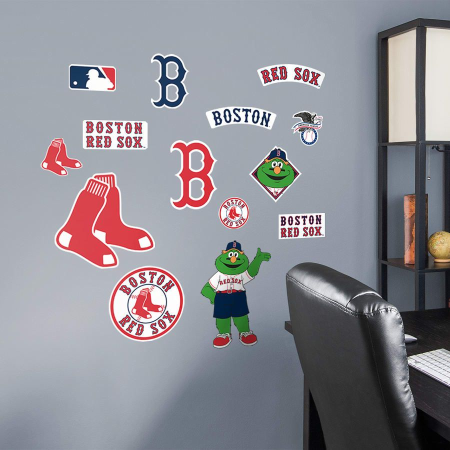 Boston Red Sox Logo Assortment Large Officially Licensed Mlb Removable Wall Deacls Wall Decal Red Sox Boston Red Sox Boston Red [ 900 x 900 Pixel ]