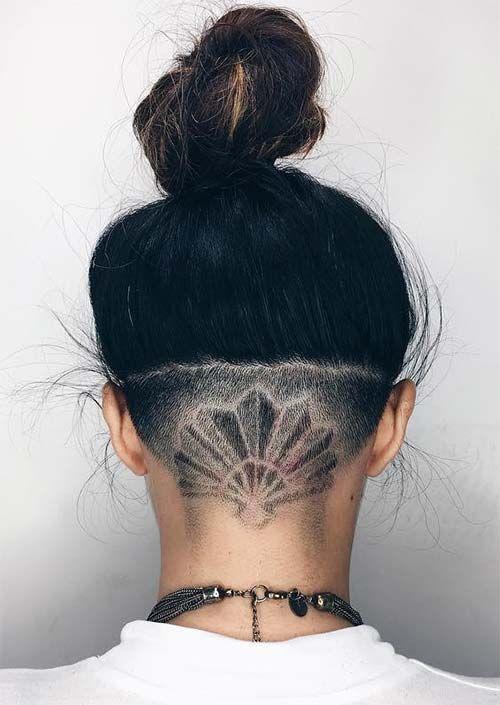 badass undercut hair tattoos