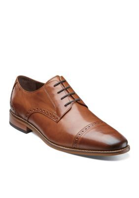 b50623b18b2 Florsheim Saddle Tan- Extra Wide Castellano Cap Toe Oxford - Available In  Wide