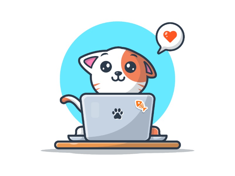Cat and Laptop! 💻😽 (With images) Cute animal drawings