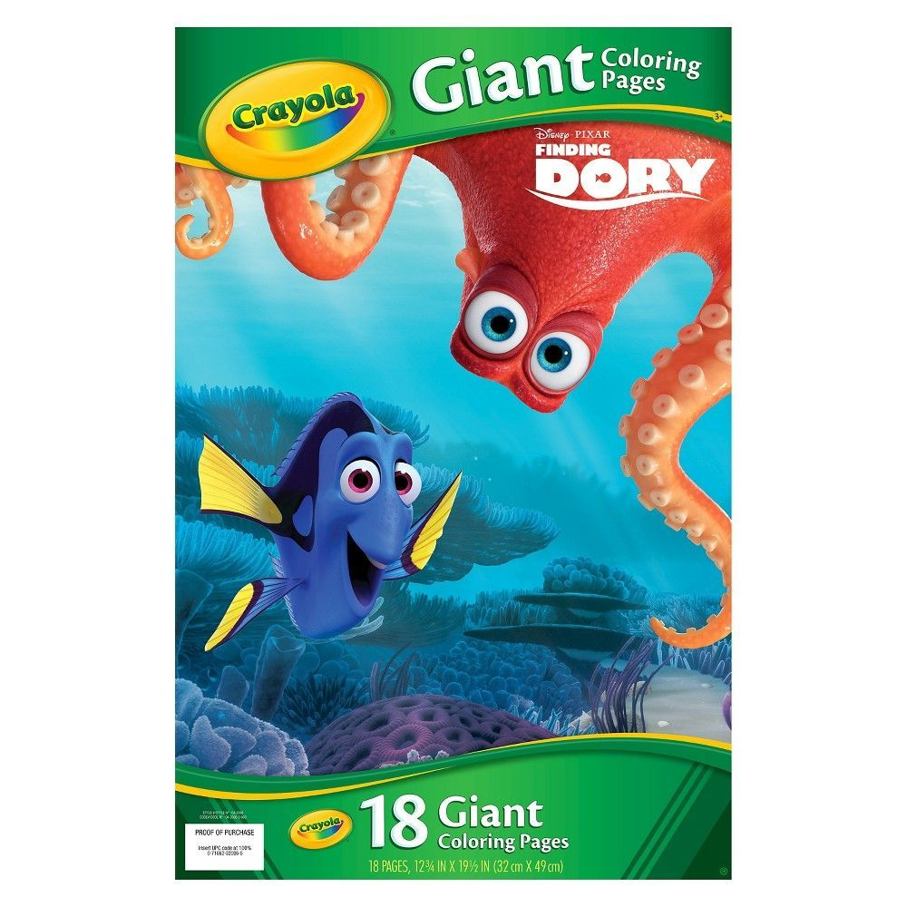 Crayola Giant Coloring Pages Finding Dory Finding Dory Crayola Coloring Books
