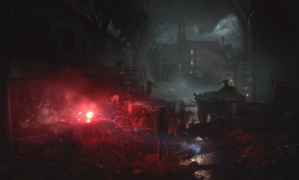 Raccoon City Concept Art From Resident Evil 2 2019 Art Artwork Gaming Videogames Gamer Gameart Illus Environment Concept Art Concept Art Resident Evil