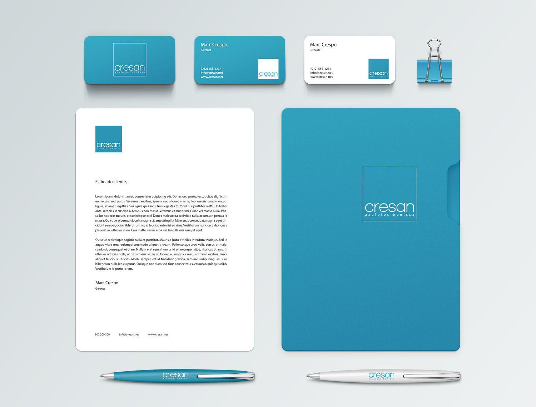Creación de la marca CRESAN: Logotipo y aplicación de la marca a ...