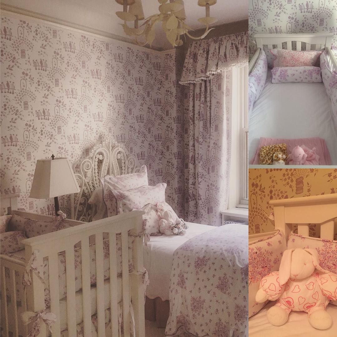 A beautiful nursery made possible with our printed lavender