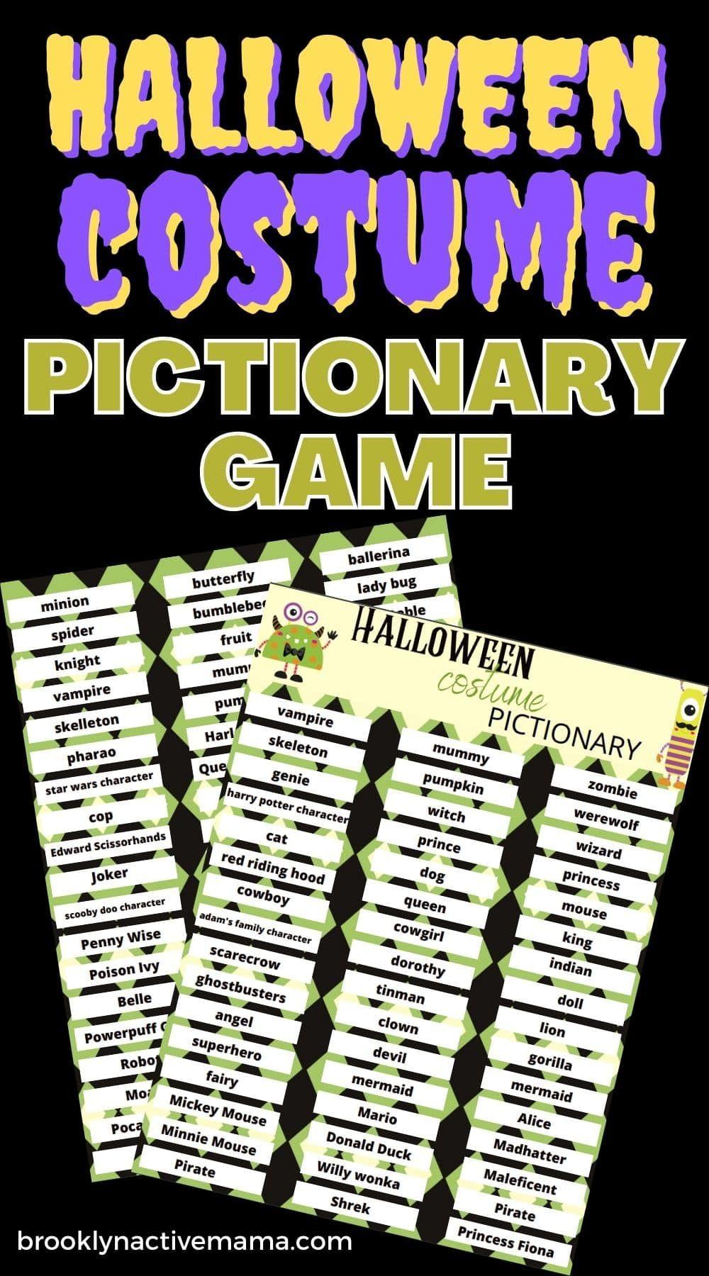 Halloween Party Brooklyn 2020 Fun Halloween Pictionary Game   Free Printable   Brooklyn Active