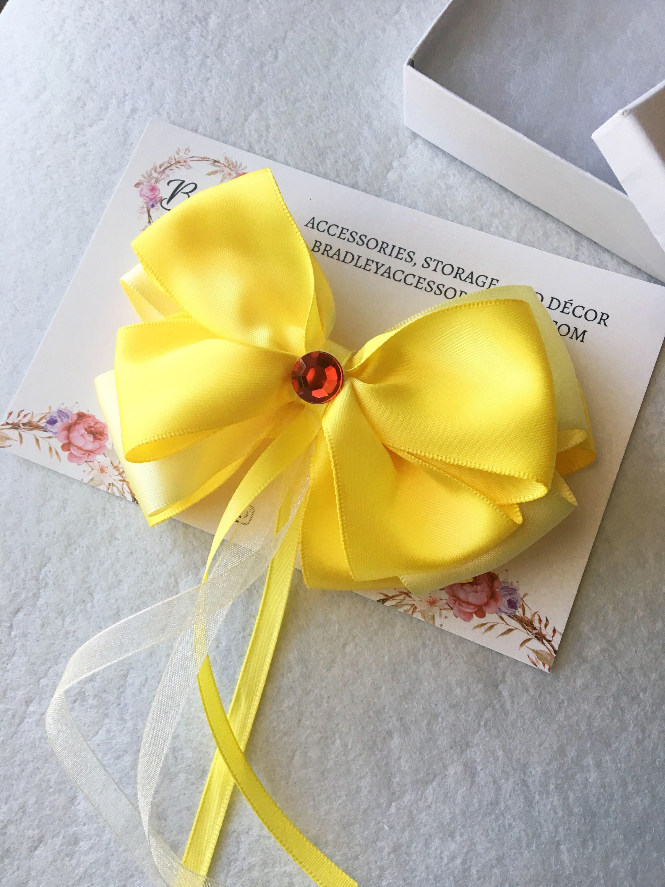 Yellow hair accessories for wedding - Princess Hair Bow Princess Birthday Party Princess Hair Clip Hair Accessories Yellow