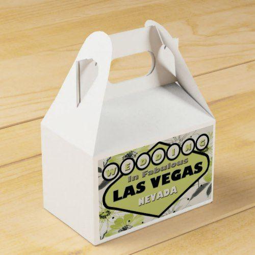 WEDDING In Las Vegas GABLE Favor Box