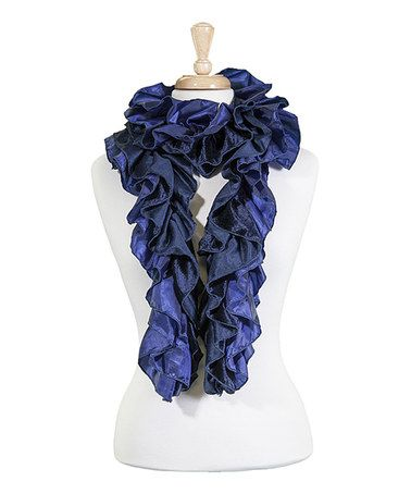 Another great find on #zulily! Navy Ruffle Scarf #zulilyfinds