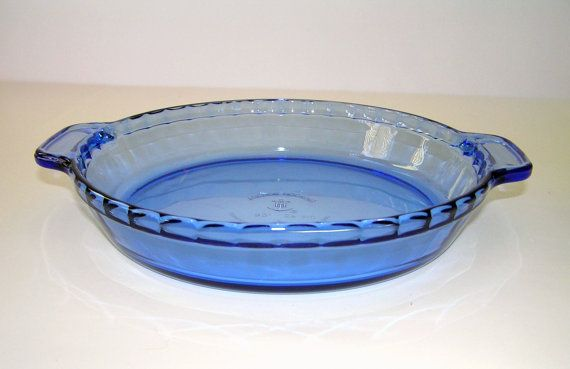 Vintage Anchor Hocking Cobalt Blue 9.5 Pie by VintageRememberWhen $9.95 : anchor hocking pie plate - pezcame.com