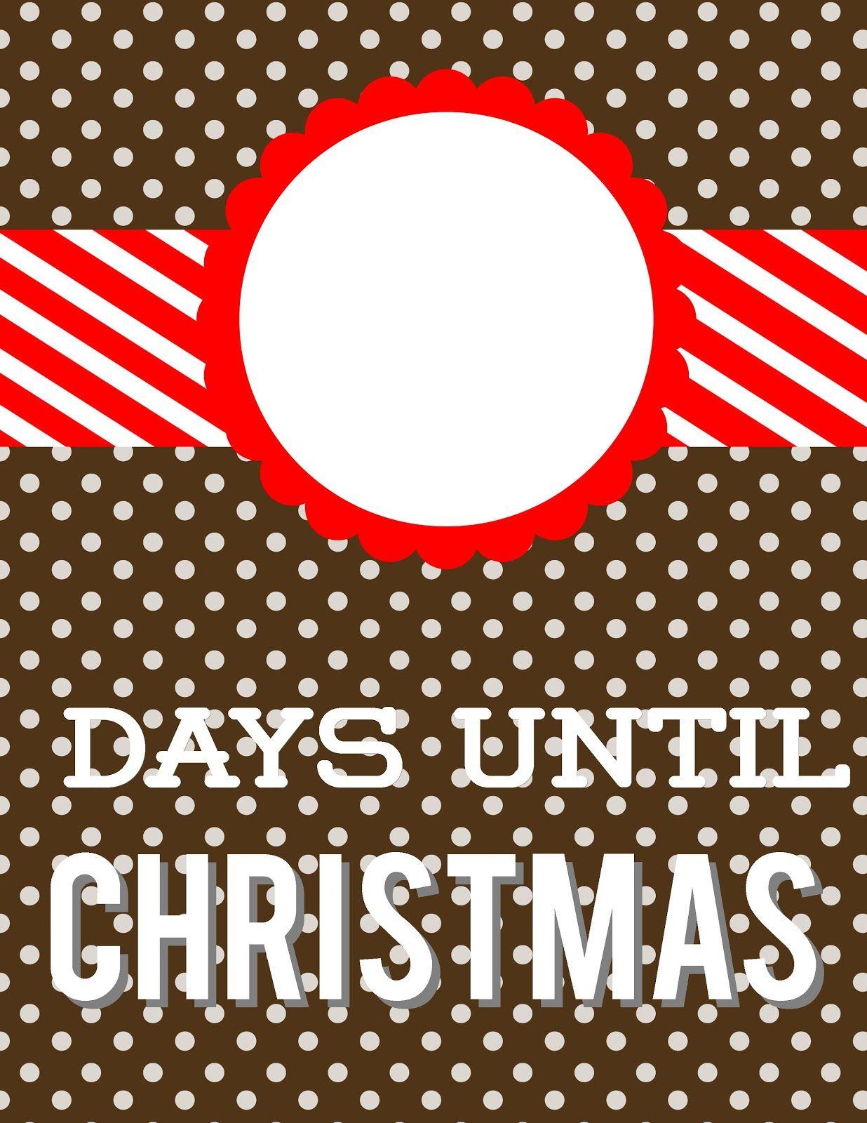 Days Until Christmas DryErase Countdown Days until