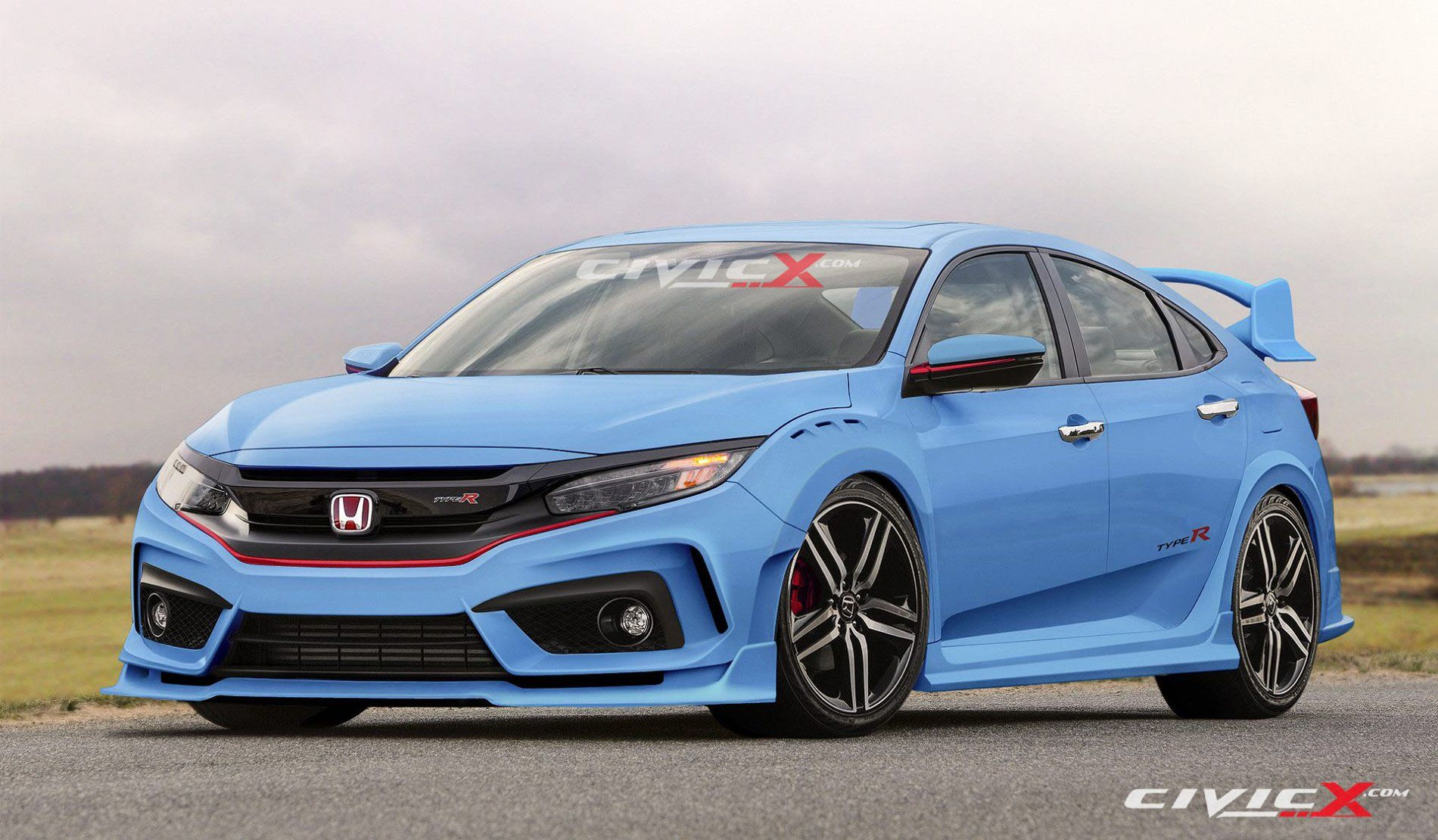 Honda Civic New Si Coupe Spoiler Hatchback 2017
