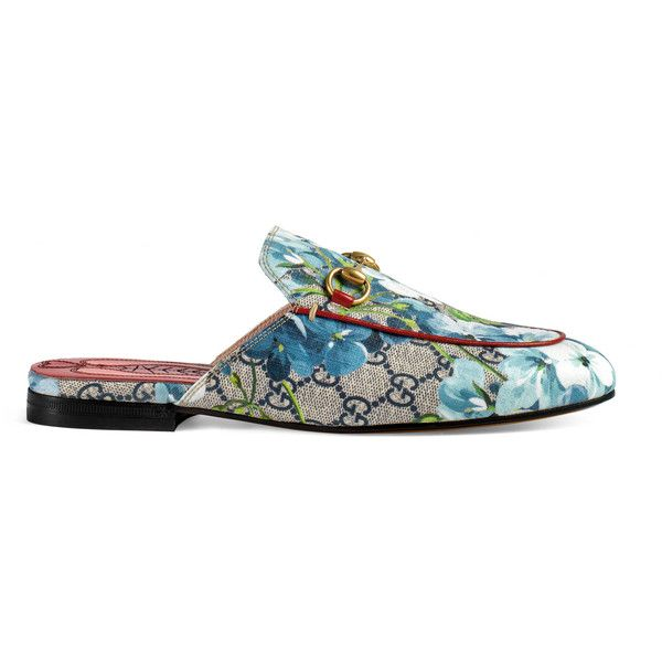 68e8c6f415d Gucci Princetown Gg Blooms Slipper ( 540) ❤ liked on Polyvore featuring  shoes
