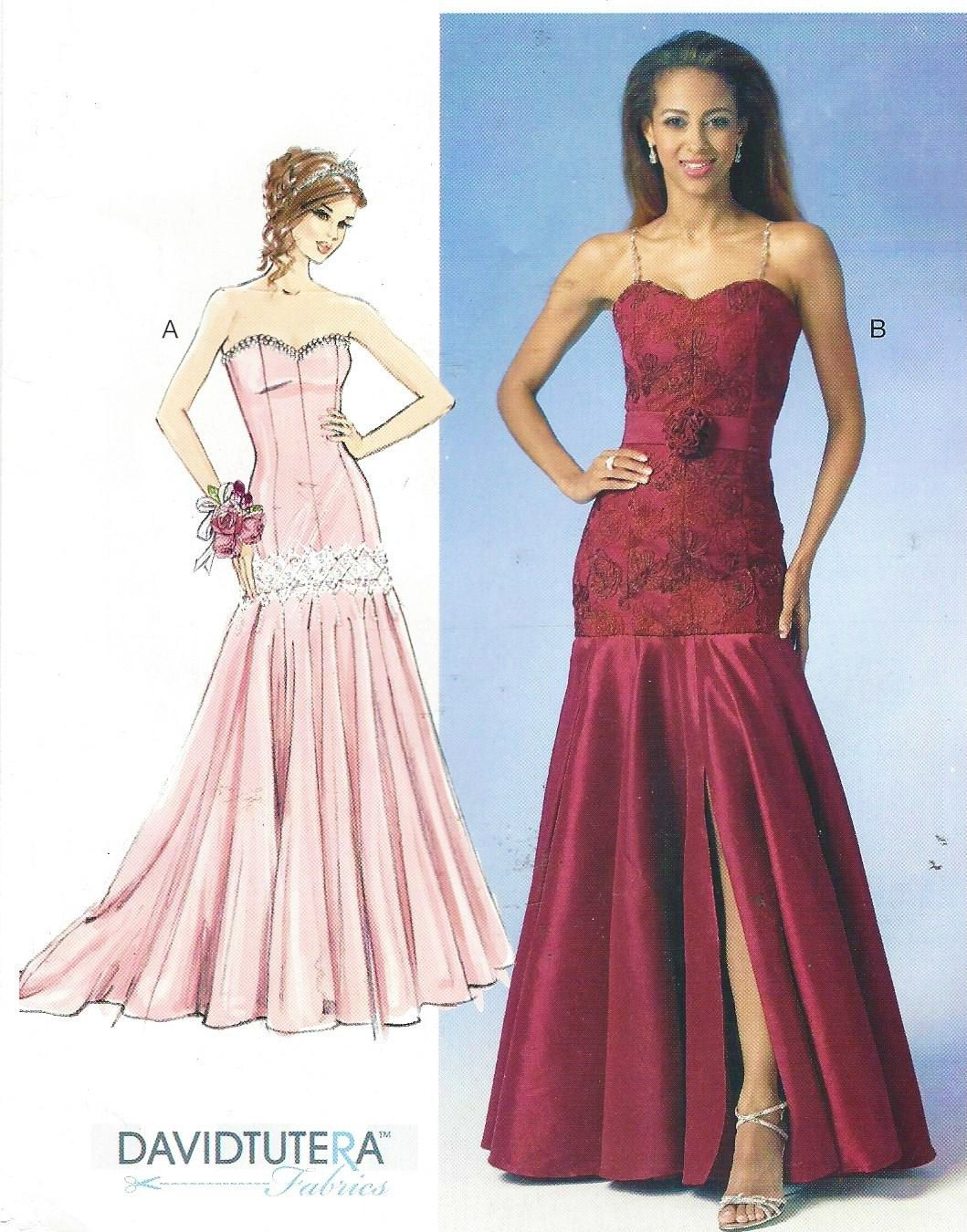 Spectacular Perfect Prom Dress McCalls Sewing Pattern M Strapless Evening Gown Size