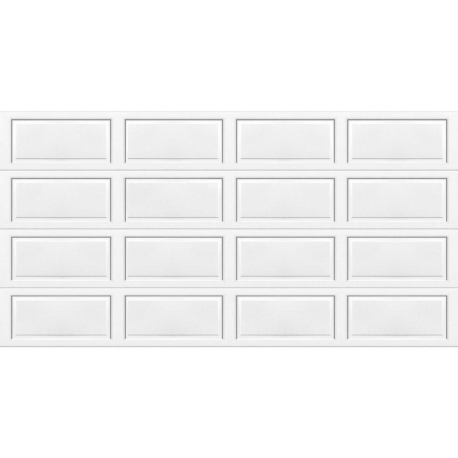 Shop Wayne Dalton 16 Ft X 7 Ft 9100 Series Insulated White Double Garage Door At Lowes Com Double Garage Door Lowes Home Improvements Garage Doors
