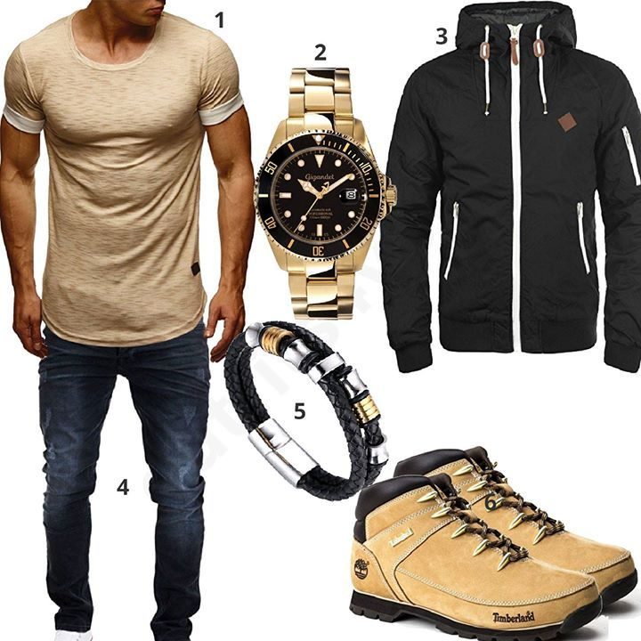 Cooles Männer Outfit mit Timberland Boots (m0545   My