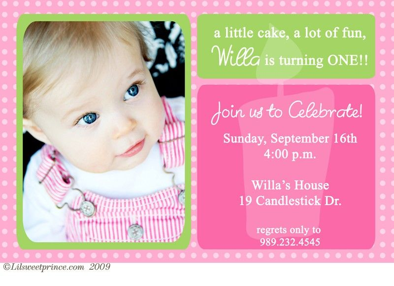 1st birthday invitations – Baby First Birthday Invitation Message