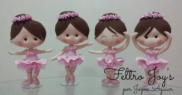 Bailarinas de feltro com molde