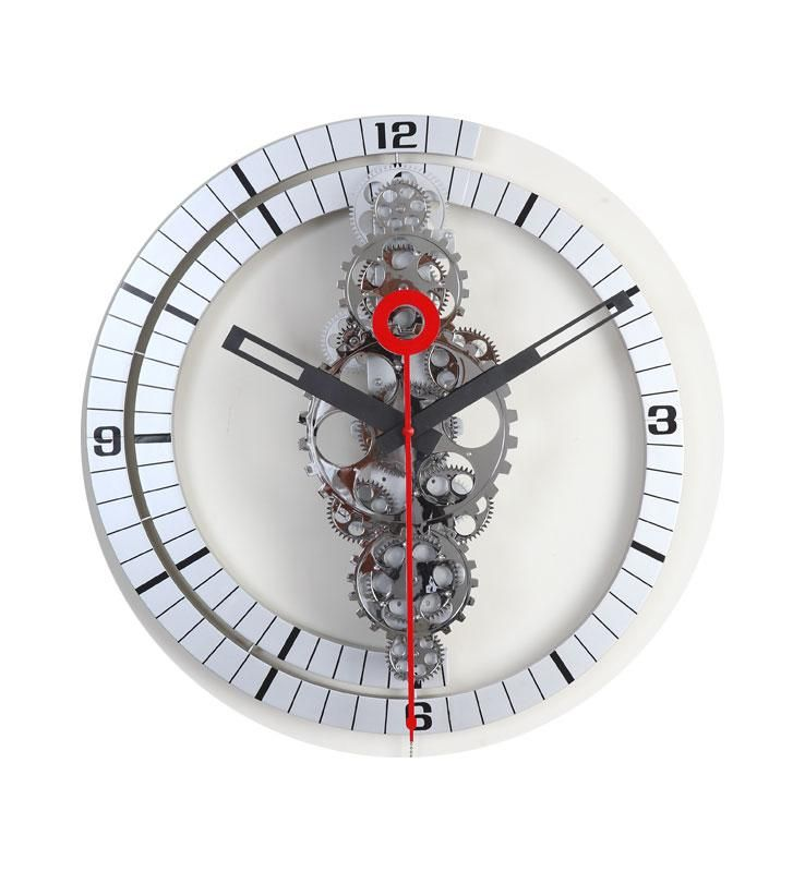 Maple S Large Moving Gear Wall Clock Spiral Ring Dial Gear Wall Clock Wall Clock Modern Wall Clock Design