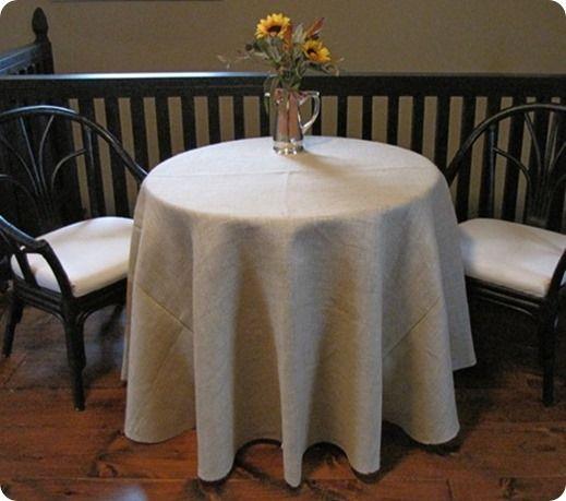 The perfect round burlap tablecloth a ballard designs knock off
