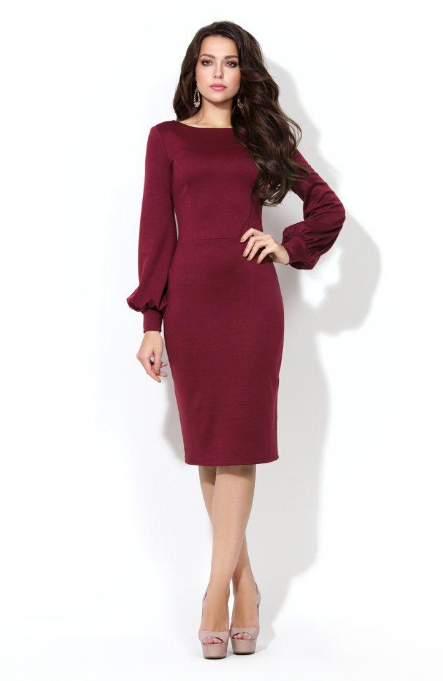 caf0ccb73aa Платье из плотного трикотажа «джерси» купить в интернет-магазине NORA STYLE