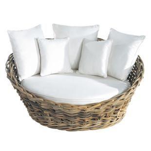 1 2 Sitzer Rattansofa Gartensofa Outdoor Sofa Und Rundes Sofa