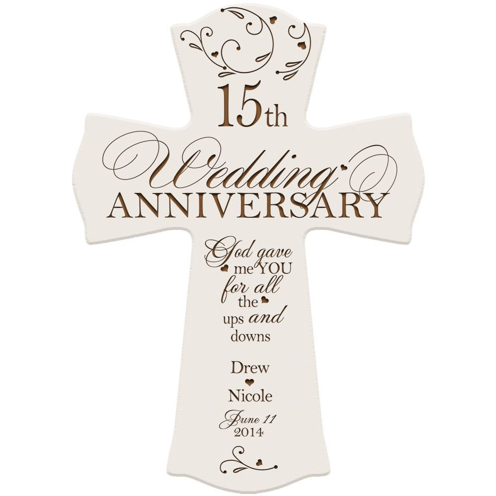 15th Wedding Anniversary Gift For Wife: Personalized 15th Anniversary Gift For Couple 15th Wedding
