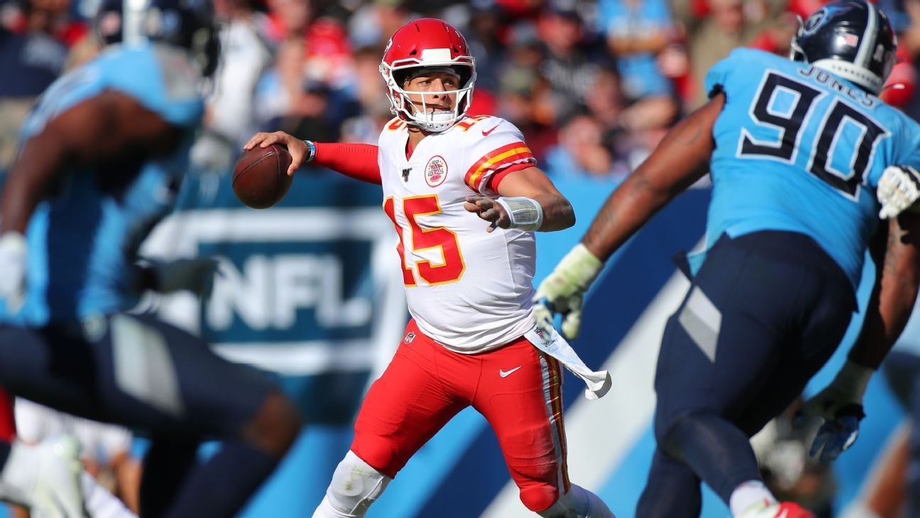 Image result for Mahomes' huge return ruined by late Titans rally