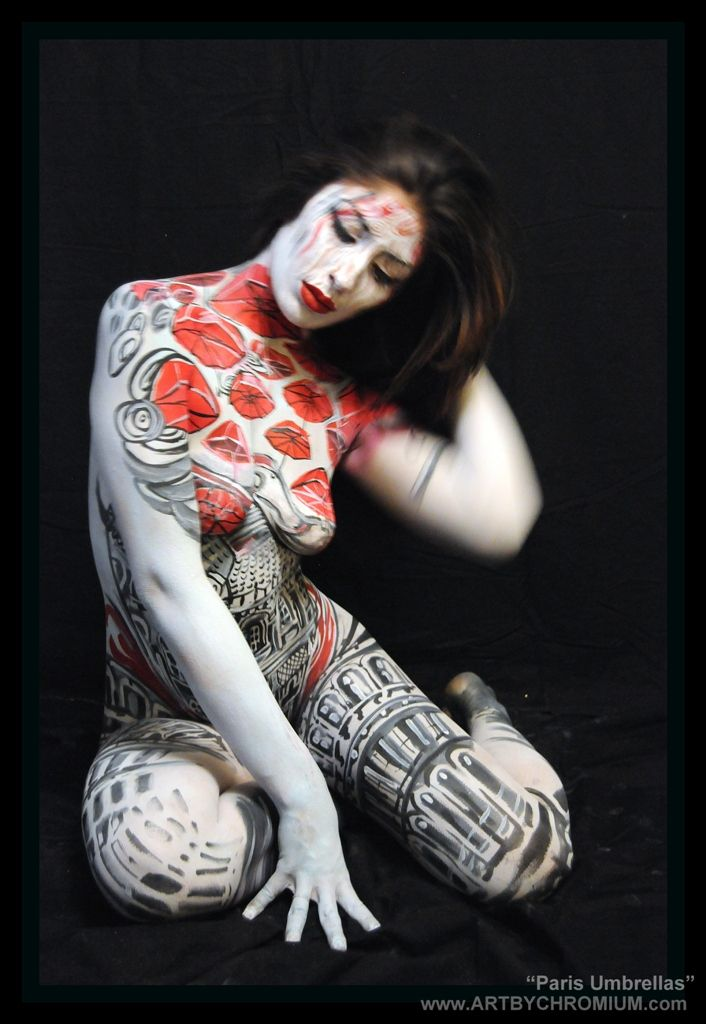 Paris Umbrellas Bodypainting Art By Lana Chromium San Diego Photography Body Painting Bodyart Bodypainting Paint On Skin Make Up Special Fx Makeup B