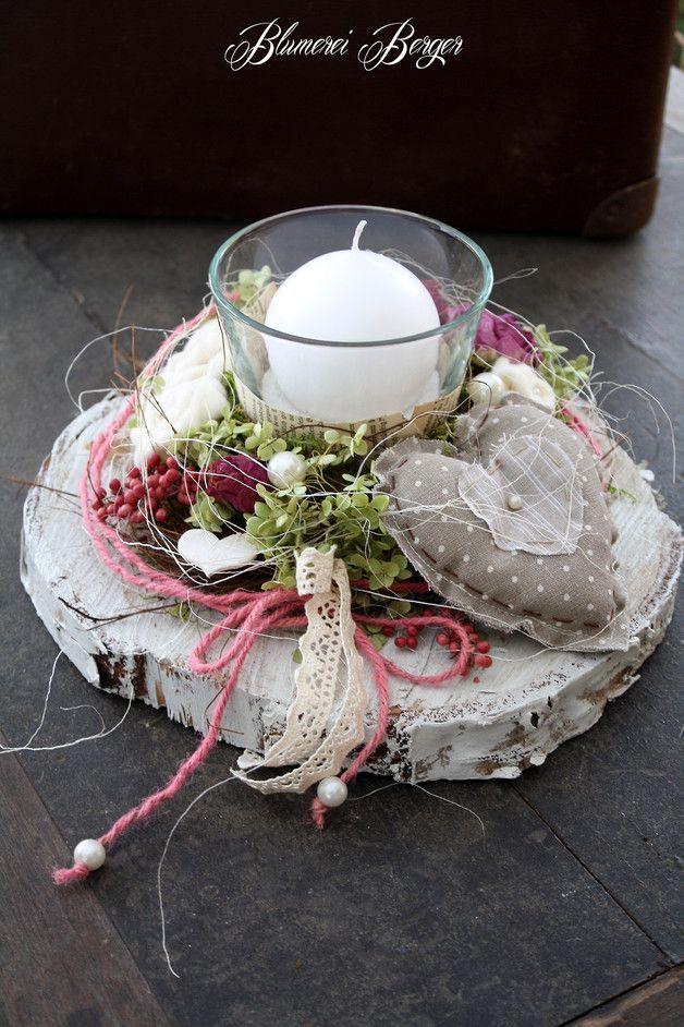 """Deko-Objekte – :::: Tischdeko """" Rosenliebe """" 2.0 :::: – ein Designerstück von B… – Valentinstag"""