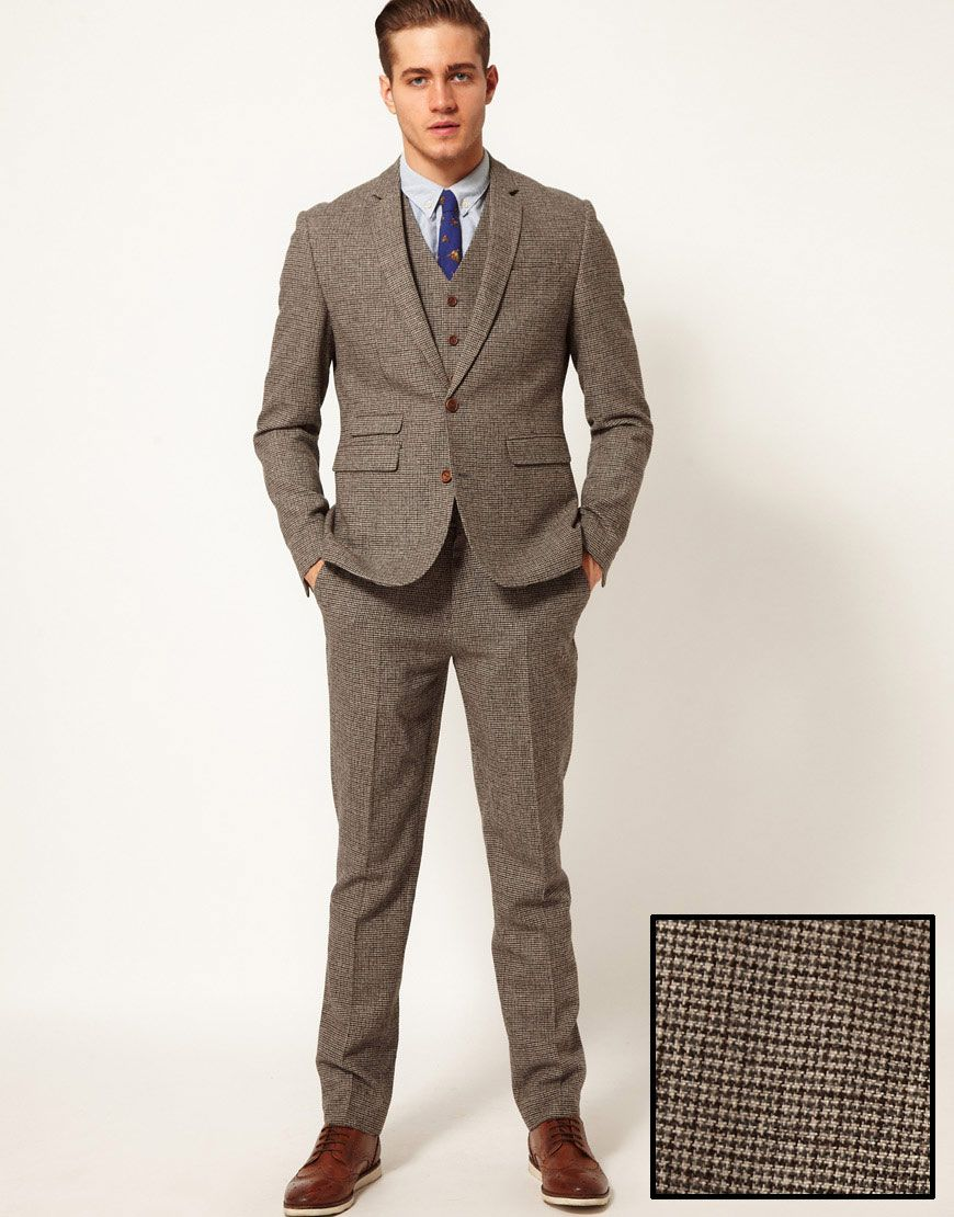 3 piece tweed houndstooth suit | Style | Pinterest | Best Slim fit ...