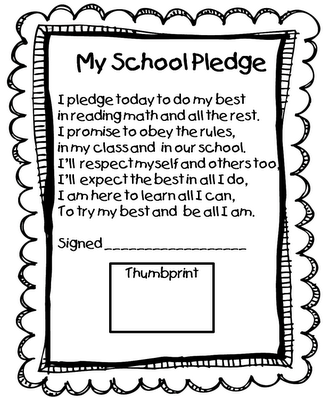 Love the pledge with the thumbprint...this blog really is