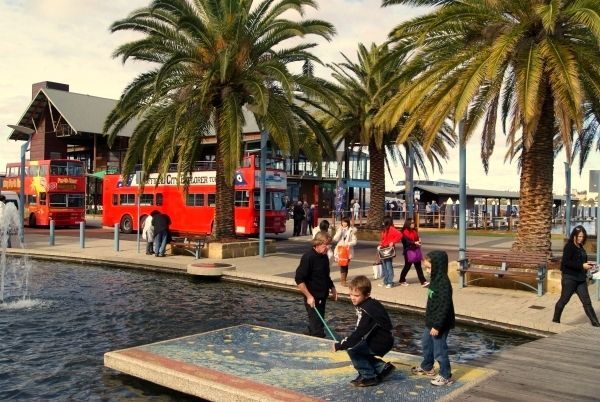 touristy barrack street jetty where you can catch a boat. Black Bedroom Furniture Sets. Home Design Ideas