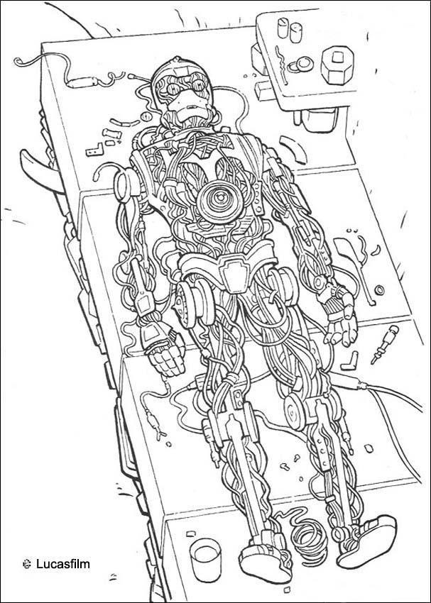 Coloriage de star wars du droide c3po en construction un coloriage in dit star wars pour tous - Star wars a imprimer gratuit ...