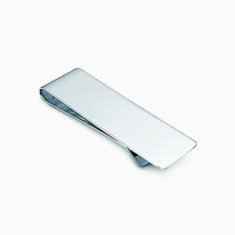 Classic Silver Cash Money Clip Credit Card Holder Stainless Steel Alaska Bear