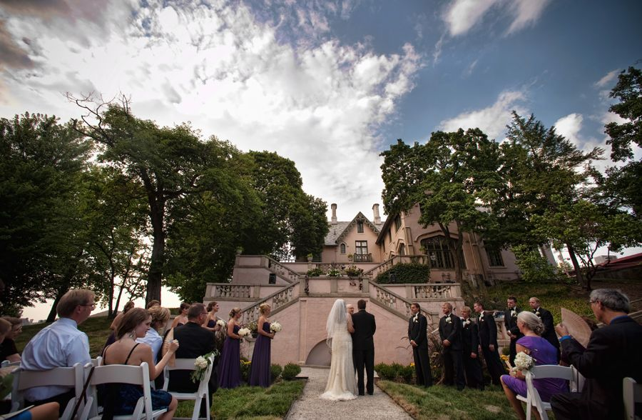 Outdoor Wedding Ceremony Moses Fowler House Lafayette Indiana Great By McGreevyMarksPhoto