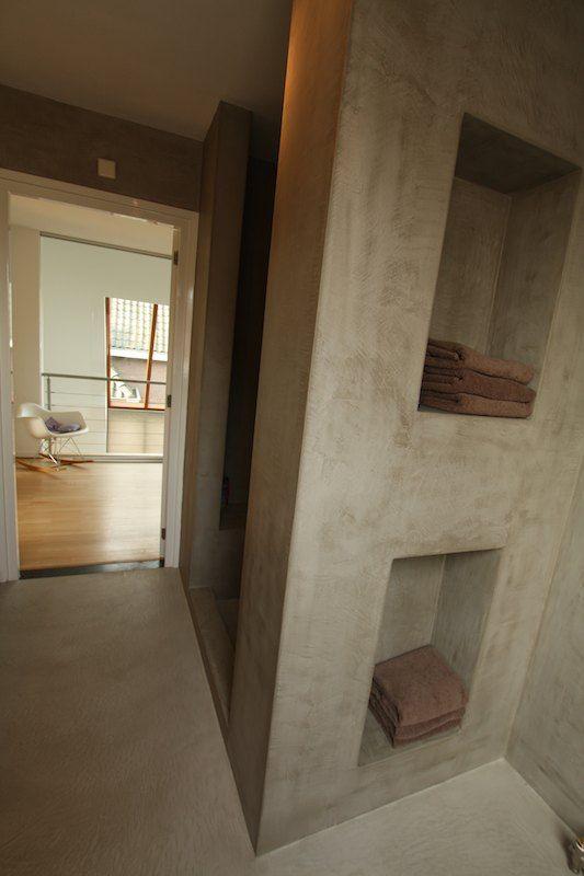 Badkamer renovatie - Texture Painting. Schilderwerken van een ...