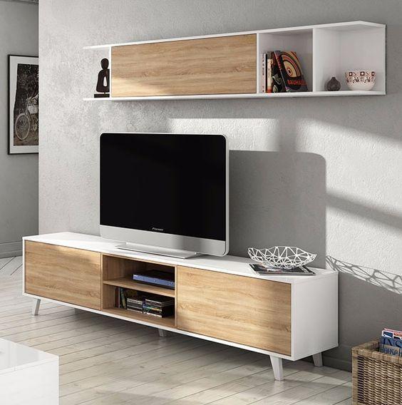 Modular Mueble Lcd Mesa Para Tv Vajillero Rack Led Mesas En - Mesas-para-tv-modernas