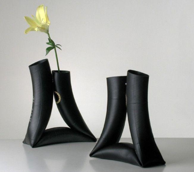 Черные вазы своими руками
