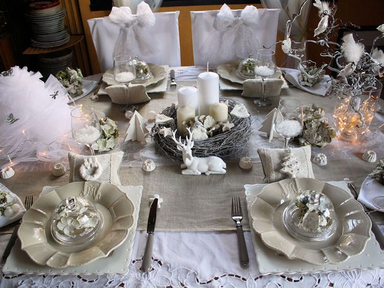 Table de no l shabby chic table manners pinterest no l shabby chic tab - Pinterest table de noel ...
