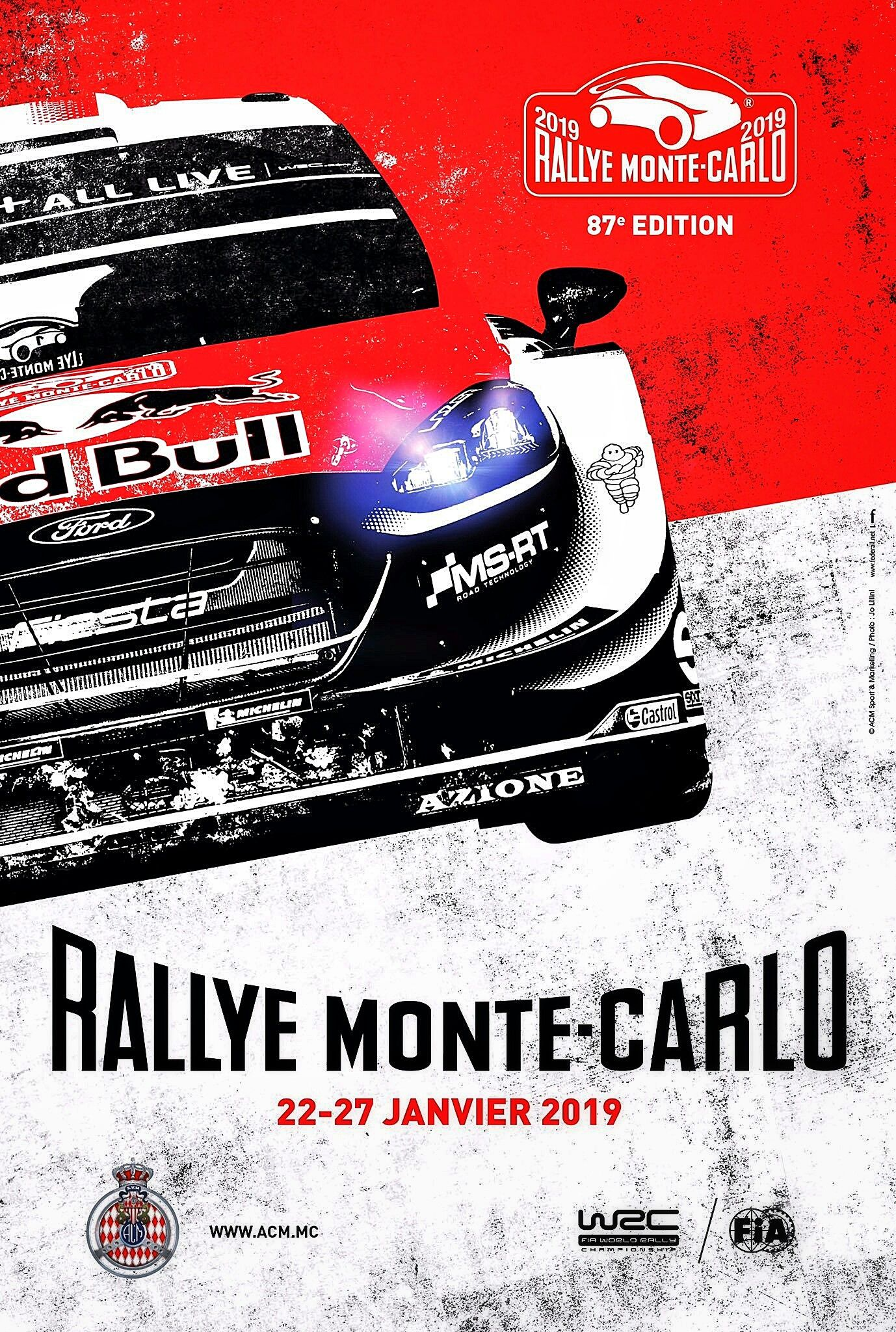 2019 Rallye Monte Carlo official poster and cover art for