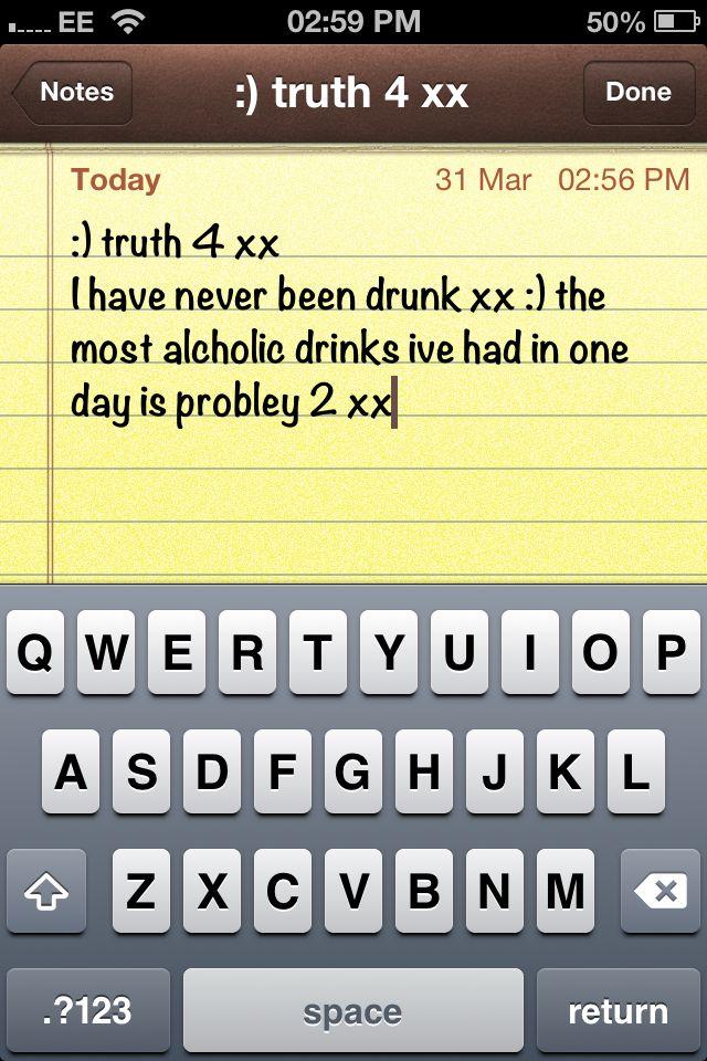 Ive never been drunk xx im a good girl xx