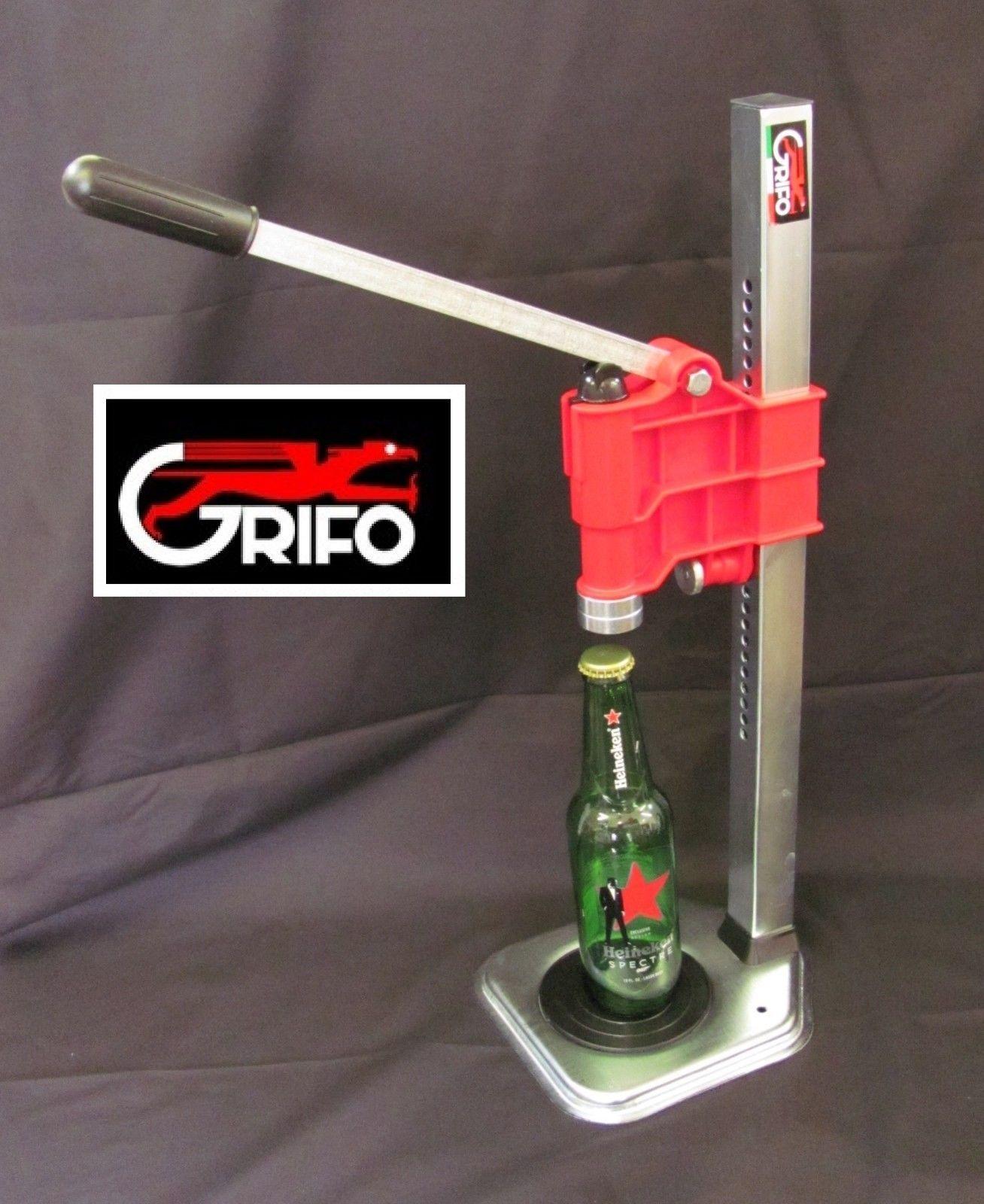 Red Bench Capper For Homebrew Beer Soda Kombucha Bottles Grifo Kit W Crowns Kombucha Bottles Home Brewing Beer Home Brewing