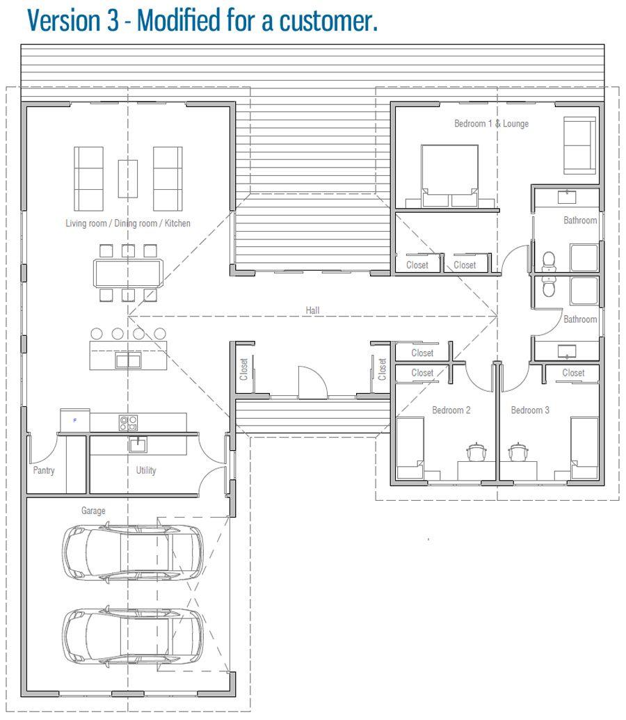 House Design House Plan Ch486 25 House Plans U Shaped House Plans L Shaped House Plans