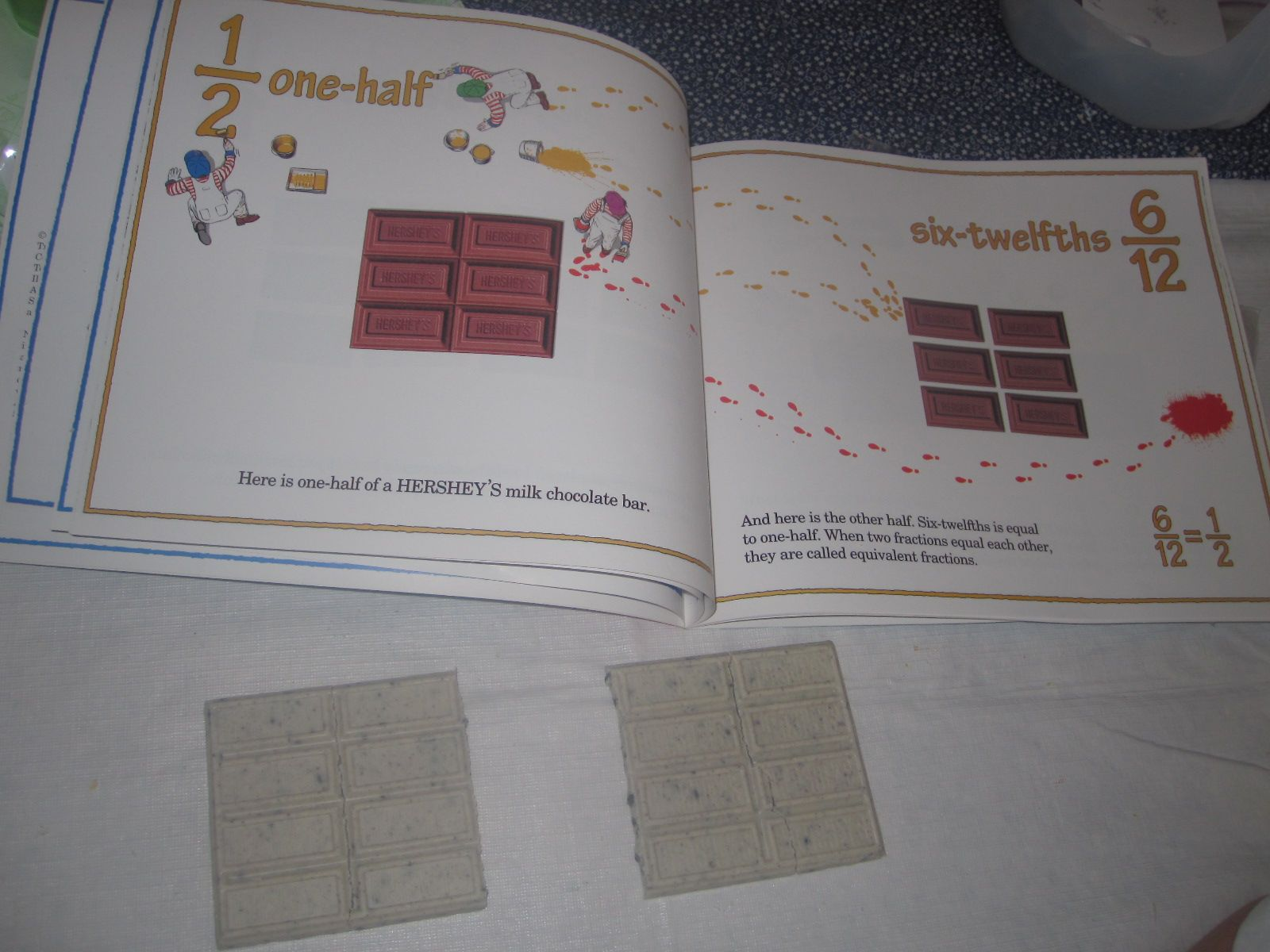 Math Books Food Yum Fractions Part 1