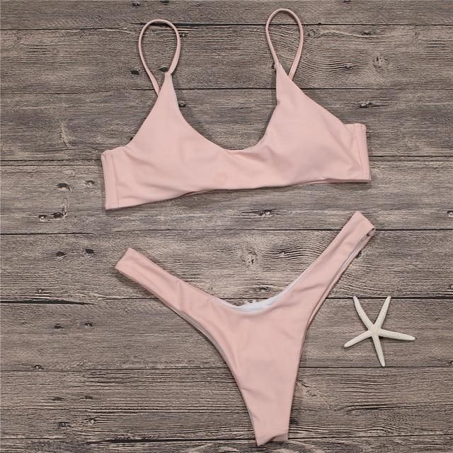 f87c80a7a 2018 Sexy Micro Bikini Plus Size Swimwear Women Swimsuit Female Beach Wear Push  up Thong Brazilian Bikini Set White Bathing Suit