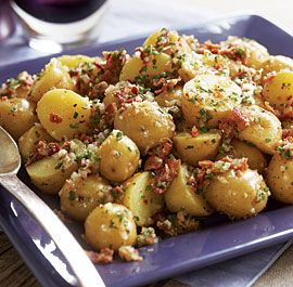 Baby Yukon Potato Salad with Shallots, Chives, Bacon & Lemon Vinaigrette - Fine Cooking Recipes, Techniques and Tips