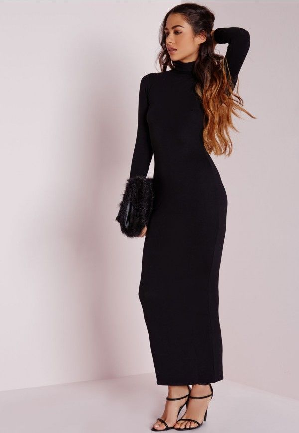 Robe longue moulante missguided
