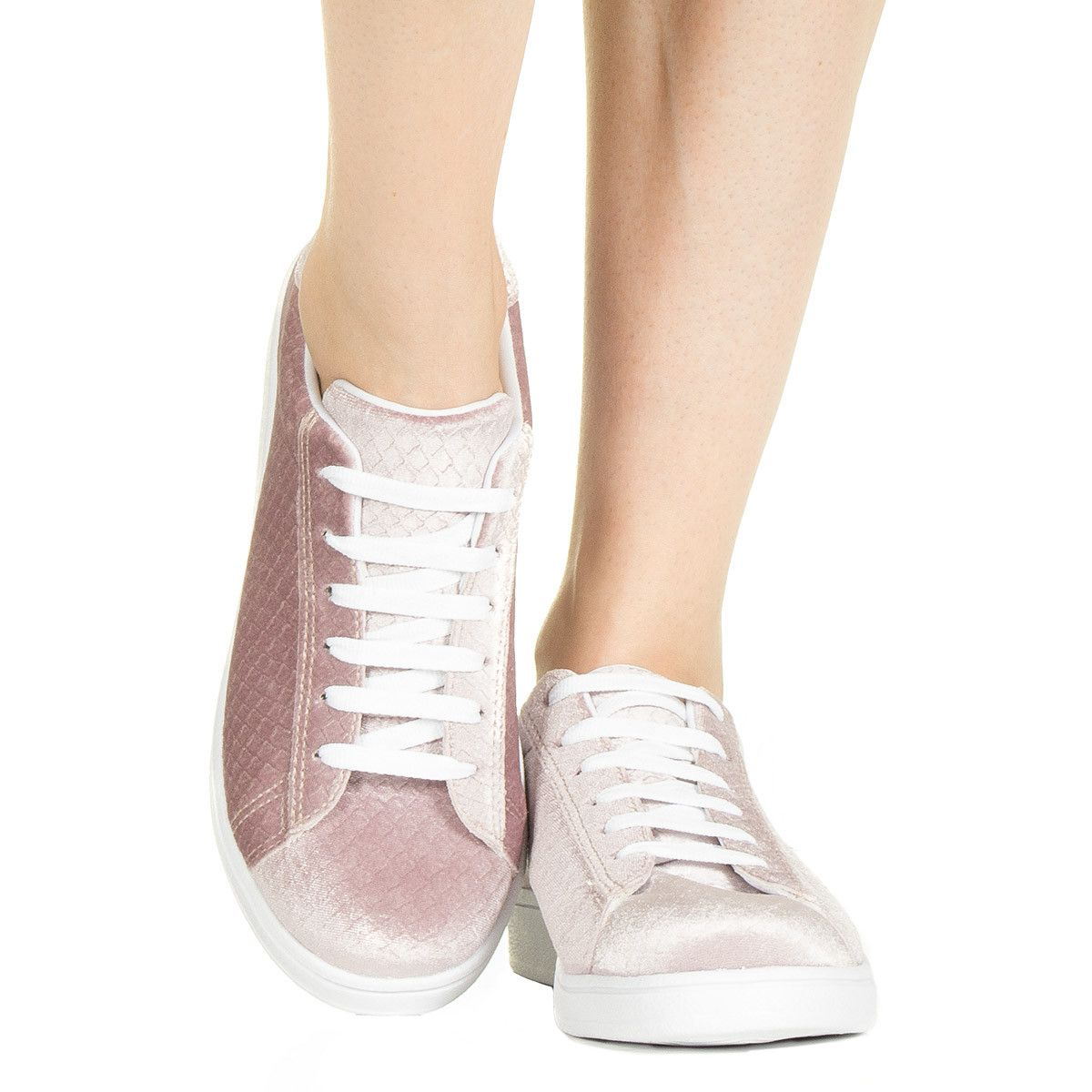 61f6f1bebe Tênis rosé de veludo Taquilla - Taquilla - Loja online de sapatos femininos