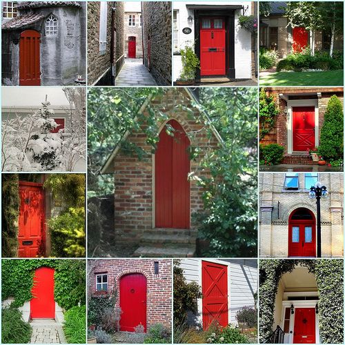 bei einer haust r im nordosten einem sogenannten ghost gate hilft rote farbe fengshui feng. Black Bedroom Furniture Sets. Home Design Ideas