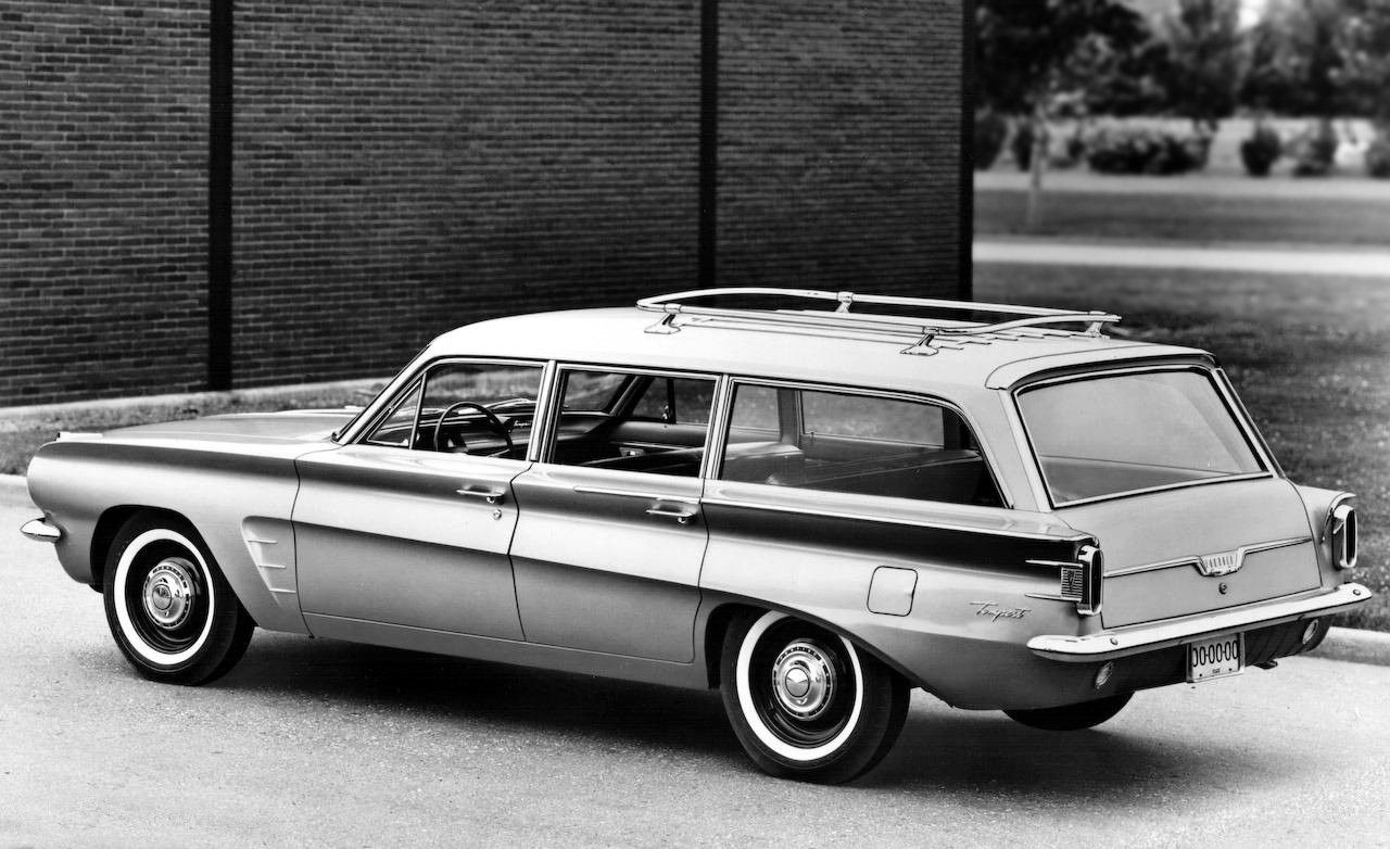 1962 Tempest Wagon Press Release Photo Pontiac Pontiac Tempest Station Wagon